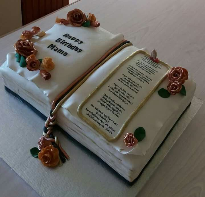 Happy Birthday Bible Cake Image