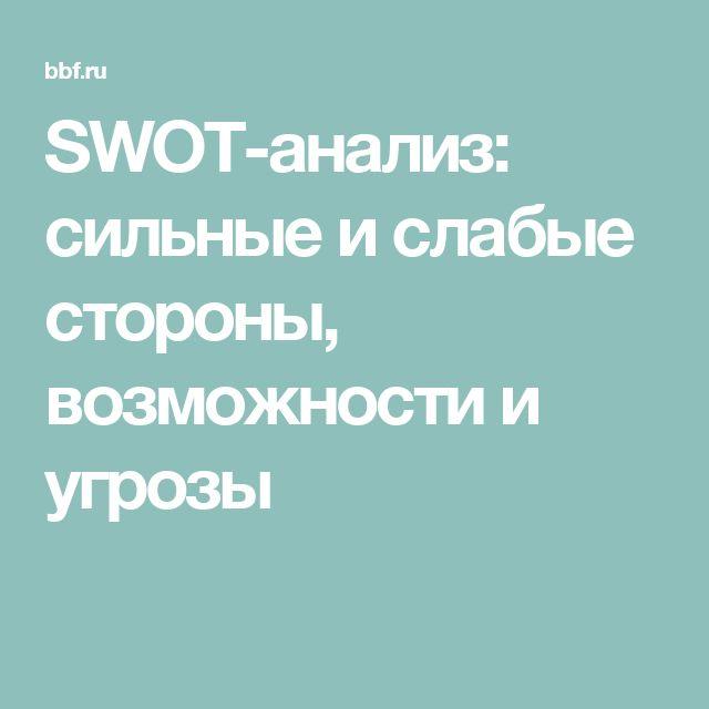 SWOT-анализ: сильные и слабые стороны, возможности и угрозы