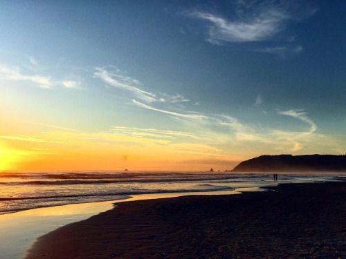 Sunset at Cannon Beach Oregon. #ExperienceCannonBeach #Haystack...