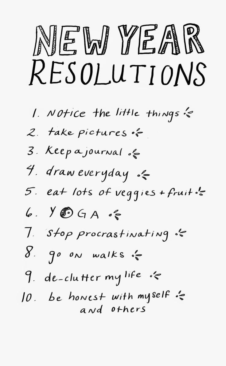 These Are Actually Pretty Good Resolutions. New Year ...