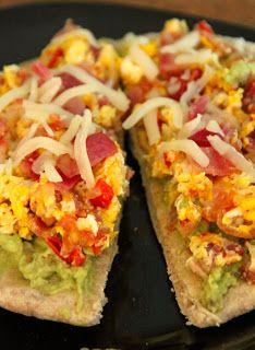 Jo and Sue: Avocado Breakfast Pizza - S with Joseph pita and 1/2 avocado