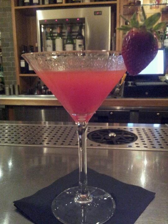 Super yummy strawberry cocktail
