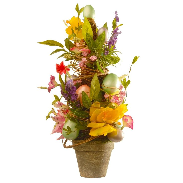 20 Decorated Easter Pot - National Tree Company, Yellow