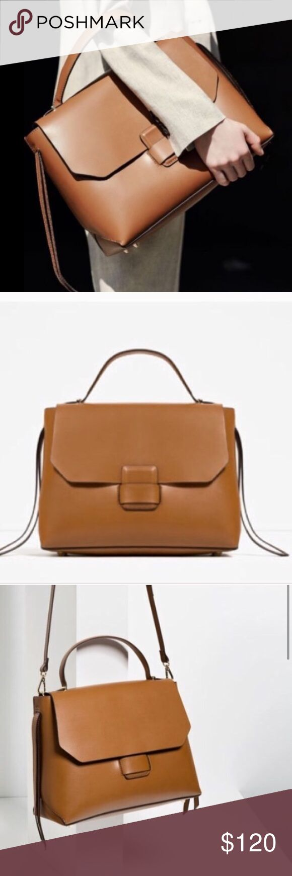 OPEN TO OFFERS Brand NWT Zara Minimal City Bag OFFERS ACCEPTED- don't let the price scare you  Amazing Leather Zara Minimal City bag. 2016 collection. The PERFECT bag for work and play. Large enough to fit your iPad, notebooks and goodies! SOLD OUT online and in stores. Comes brand new with tags in Zara box with Zara duster. Zara Bags