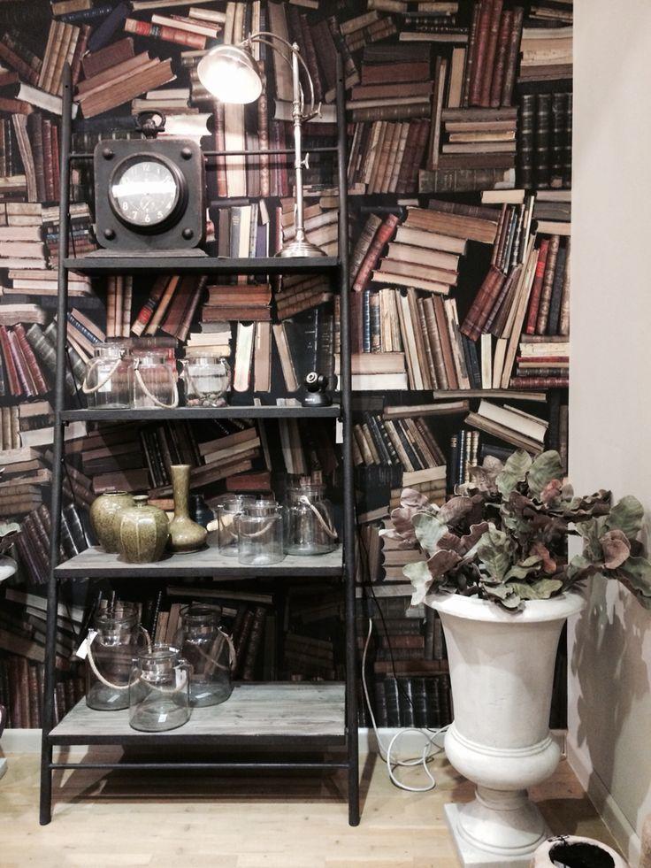 #Libreria #neoindustriale in legno e ferro