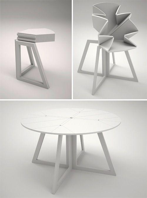 Design table by Andrew Liszewki.   Design tafel  van Andrew Liszewki