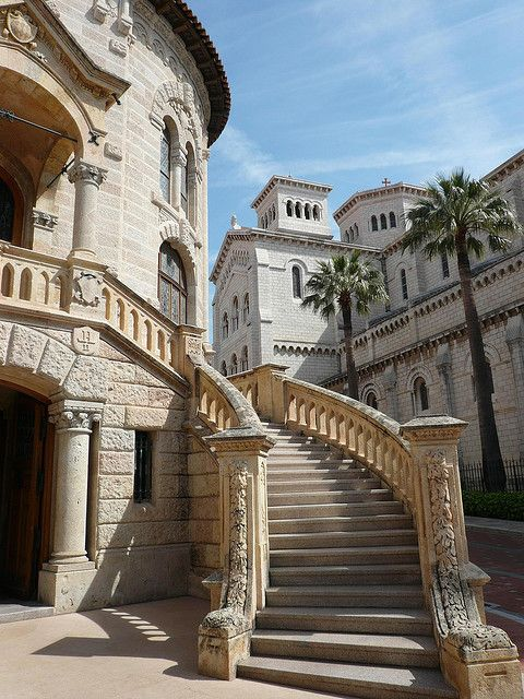 Staircase on the streets of Monte Carlo, Monaco (by Traveling Storyteller).