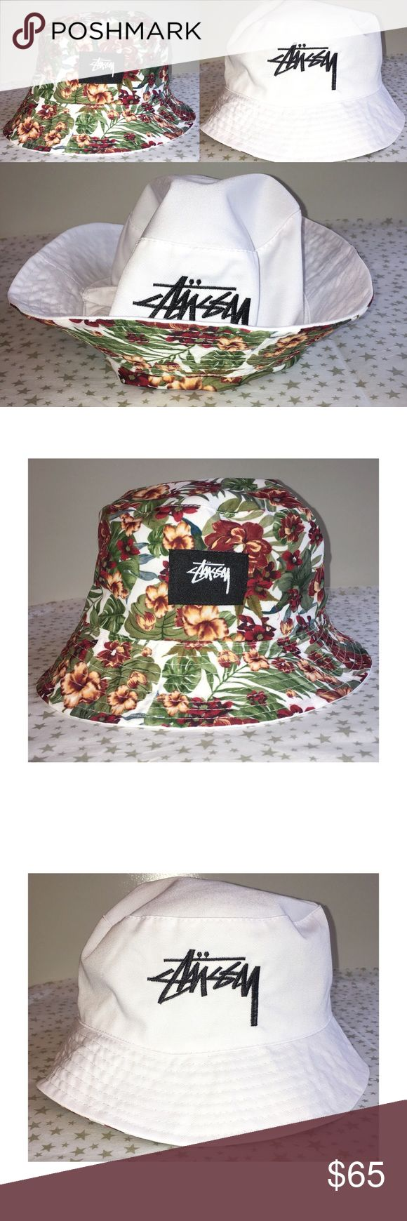 Reversible STUSSY Floral Bucket Hat 🔥 RARE These are limited edition and brand NWT! Never worn floral reversible bucket hats. You will not find these anywhere else, the Hats are really comfortable on both sides - really rare! I was lucky enough to get 4 of these 😊 Stussy Accessories Hats