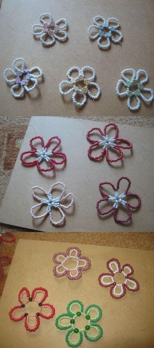 flowers of beads