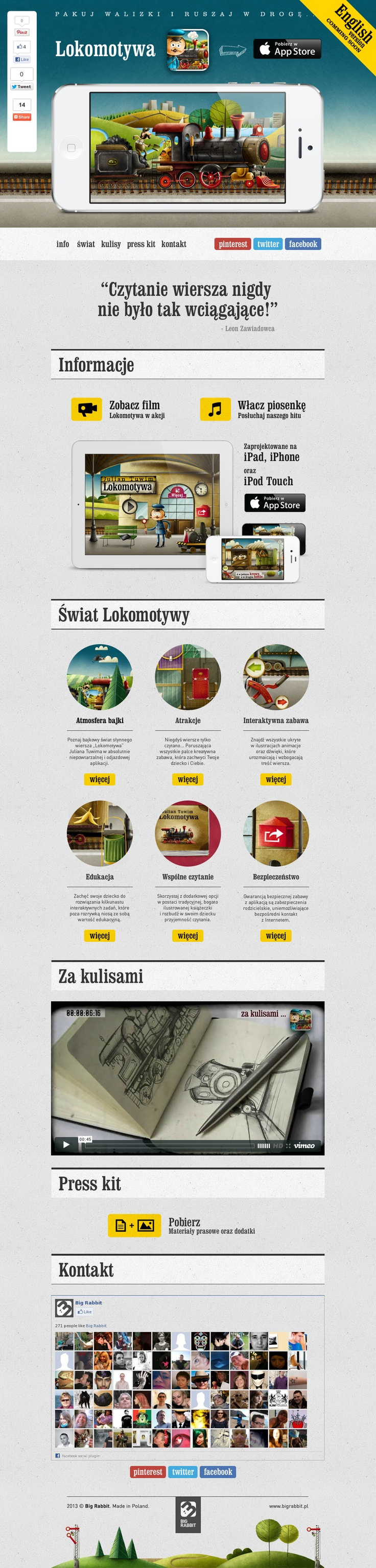 http://lokomotywa.bigrabbit.pl    #Lokomotywa - Julian Tuwim, #aplikacja na #iPhone, #iPad, #iPod Touch     #Locomotive - Julian Tuwim, #iPhone, #iPad, #iPod Touch #iOS #App