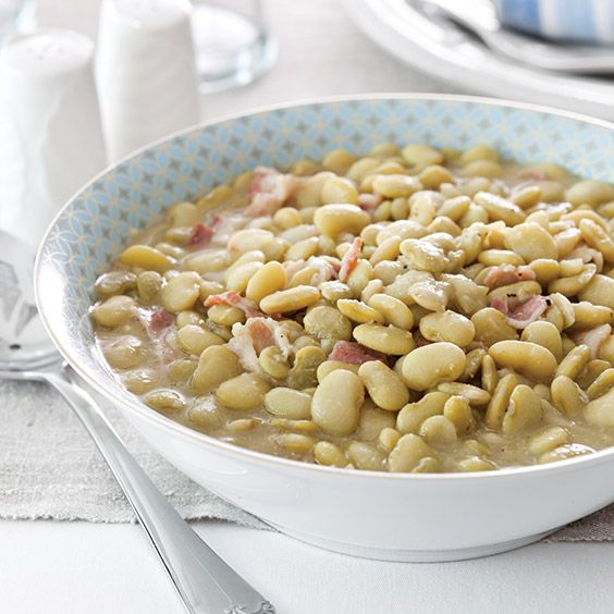 The recipe for these easy lima beans came to Paula Deen from her Aunt Peggy.