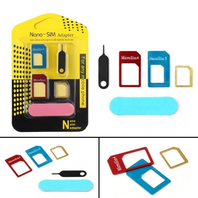 2set New 5 In 1 Sim Cards Adapters Eject Pin Key For All