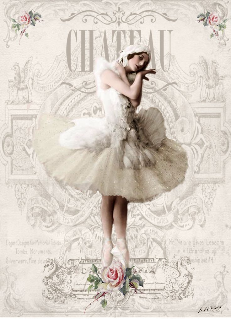 Vintage ballerina Digital collage p1022 free for personal use...