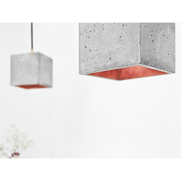 GANTlights [B1] PENDANT LIGHT CUBIC - GOLD, SILVER OR COPPER - Copper (10.565 RUB) ❤ liked on Polyvore featuring home, lighting, ceiling lights, gold, silver lamps, copper bar, silver pendant light, gold bar and gold ceiling lights