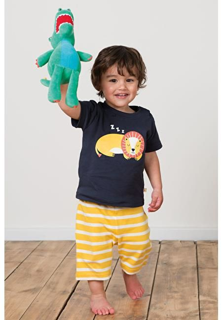 Frugi PJ set - Navy/Lion Retro Baby Clothes - Baby Boy clothes - Danish Baby Clothes - Smafolk - Toddler clothing - Baby Clothing - Baby clothes Online