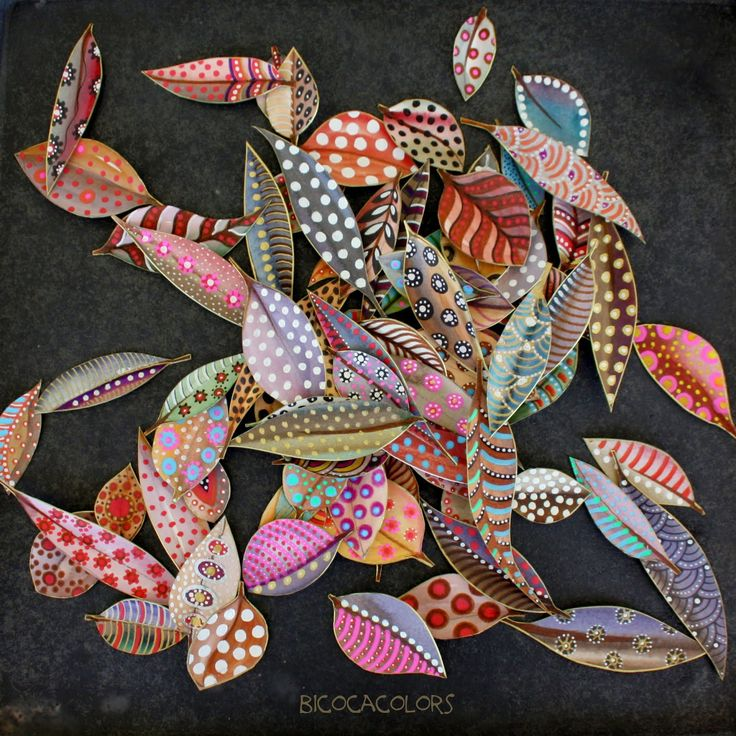 Exquisite painted leaves
