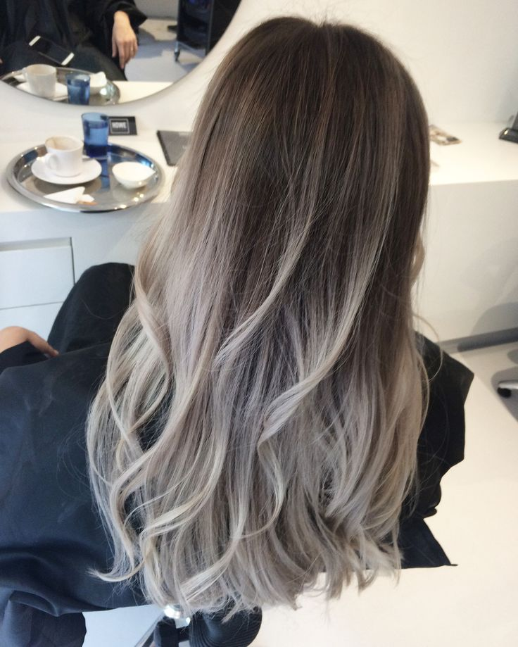 balayage grey gray #grey #balayage