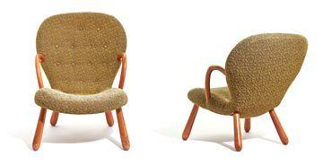 PHILIP ARCTANDER  'Muslingestolen''/''Musling'', produsert av Vik & Blindheim. Formgitt ca. 1944, i produksjon fra ca. 1953