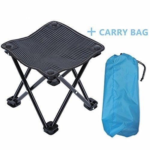 Mini Outdoor Folding Stool Cloth Camping Fishing Picnic Chair Carry Bag Black  #MiniOutdoorFoldingStool