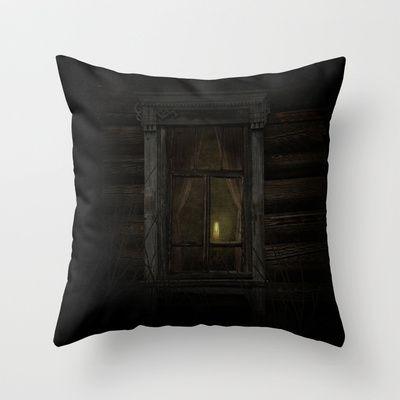 In my world Throw Pillow by Oscar Tello Muñoz - $20.00