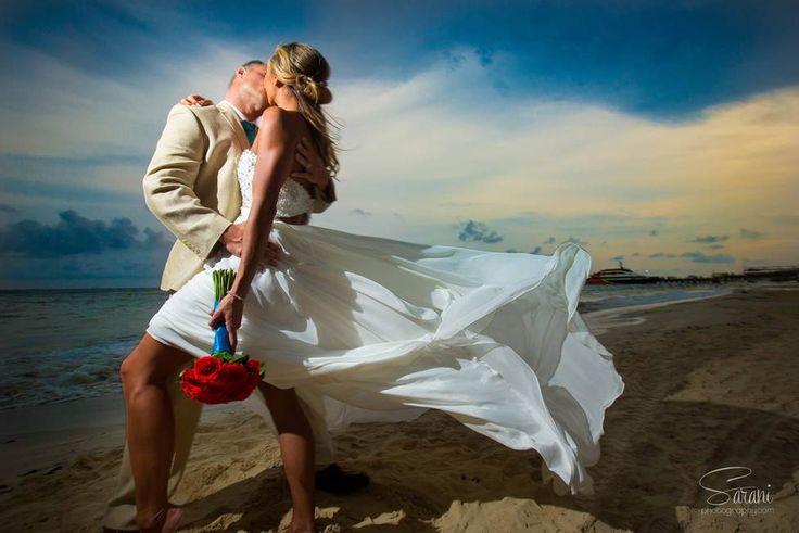 Stunning wedding photo by Sarani Photography Mexico taken at Playcar Palace