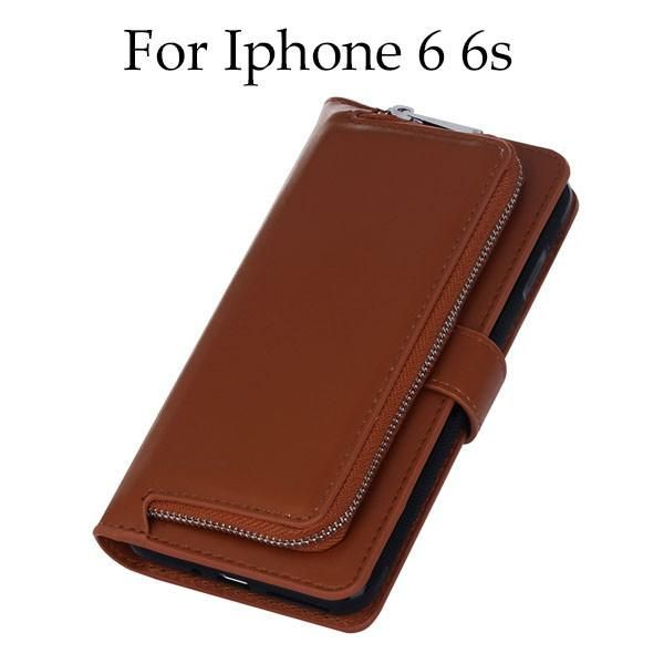 2 in 1 Leather Flip Cover for Iphone 7, 6, 6s, Plus Cover Multifunction Wallet Case For Samsung Galaxy S8, S7, S6 Edge Plus S5 Phone Bags
