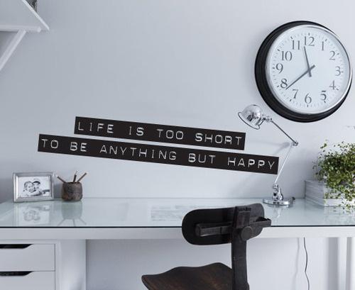 Dymo Label Quote - Be Happy!