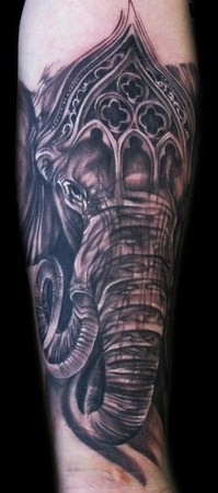 ganesh tattoo by Tony Mancia of Smyrna, GA. this looks fantastic, great work