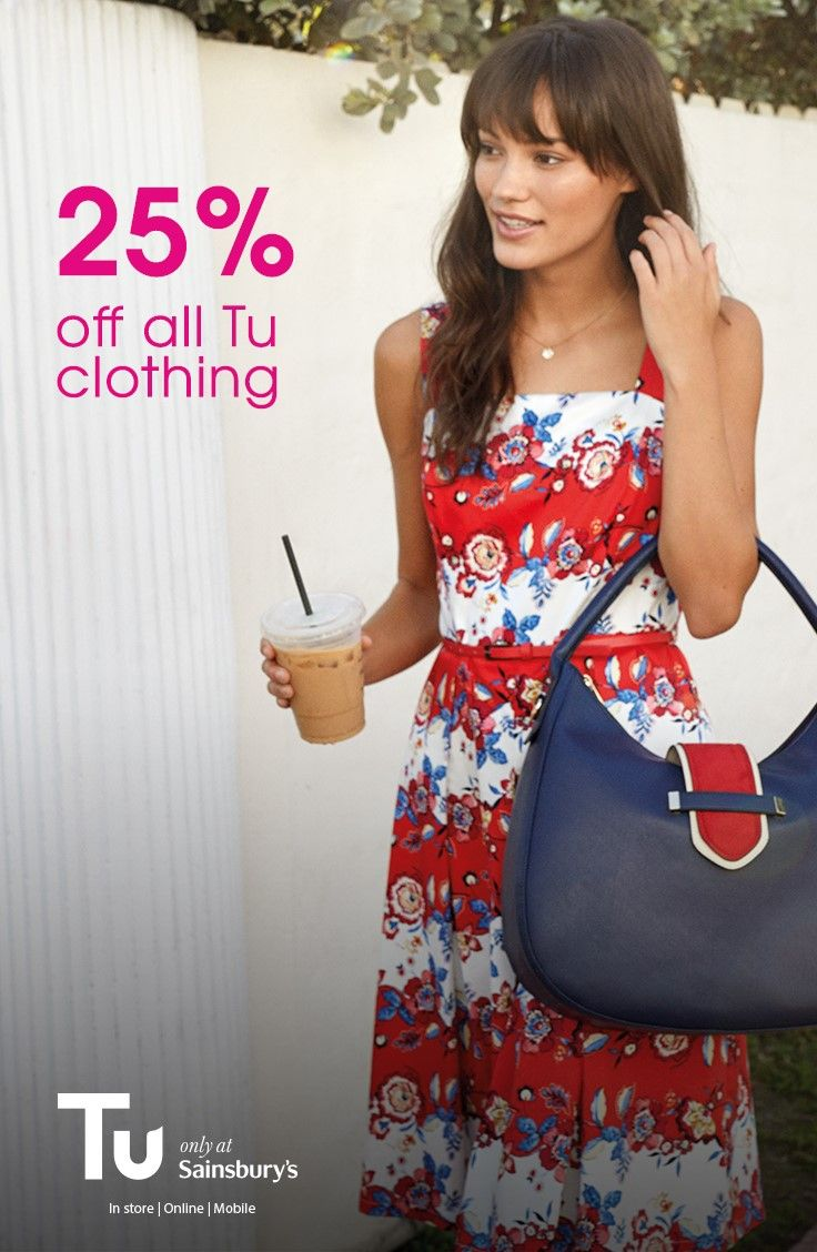 There's now 25% off all Tu clothing at Sainsburys, online and in store until the 29th May.