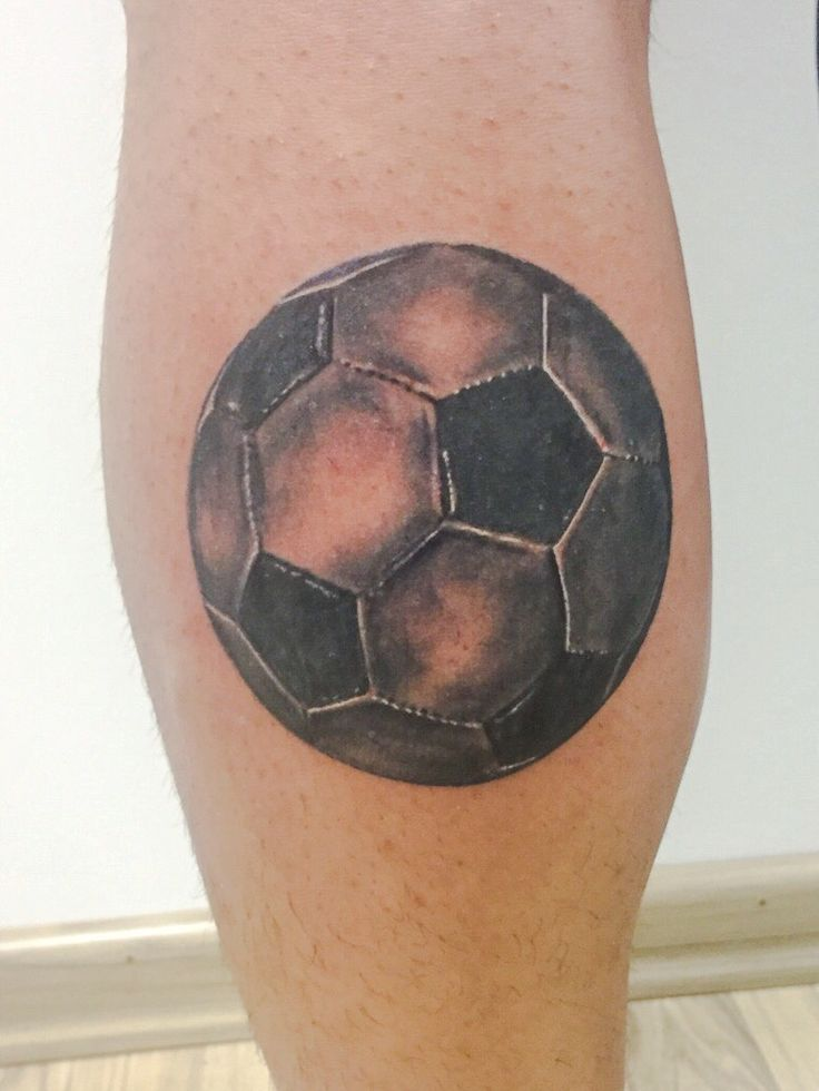 Realistic Soccer's Ball tattoo - Black and White