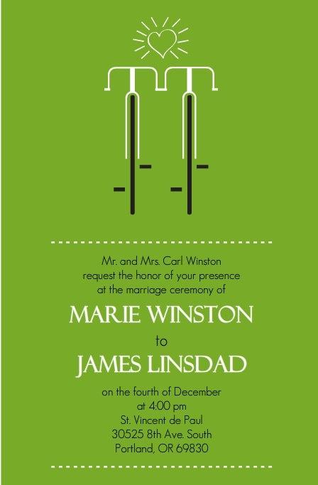 168 best wedding card images on pinterest wedding stationery bicycle wedding invitation stopboris Gallery