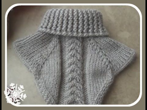 getlinkyoutube.com-Манишка спицами. Collar knitting