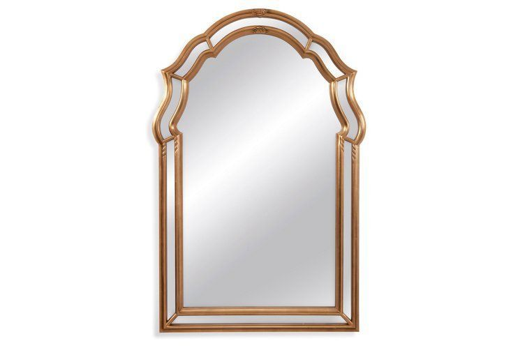 Chatham floor mirror gold leaf madison lounge for Gold floor standing mirror