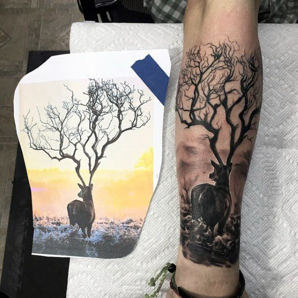 576 best images about Deer hunting Tattoo ideas on ...