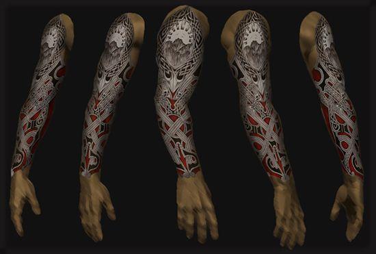 Tatouage Bras Complet Homme Vs5u1