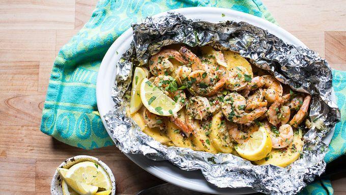 Garlic and Shrimp Butter Leaf Packs – Nurses – #butter #garlic #the …   – Foil Pack Recipes