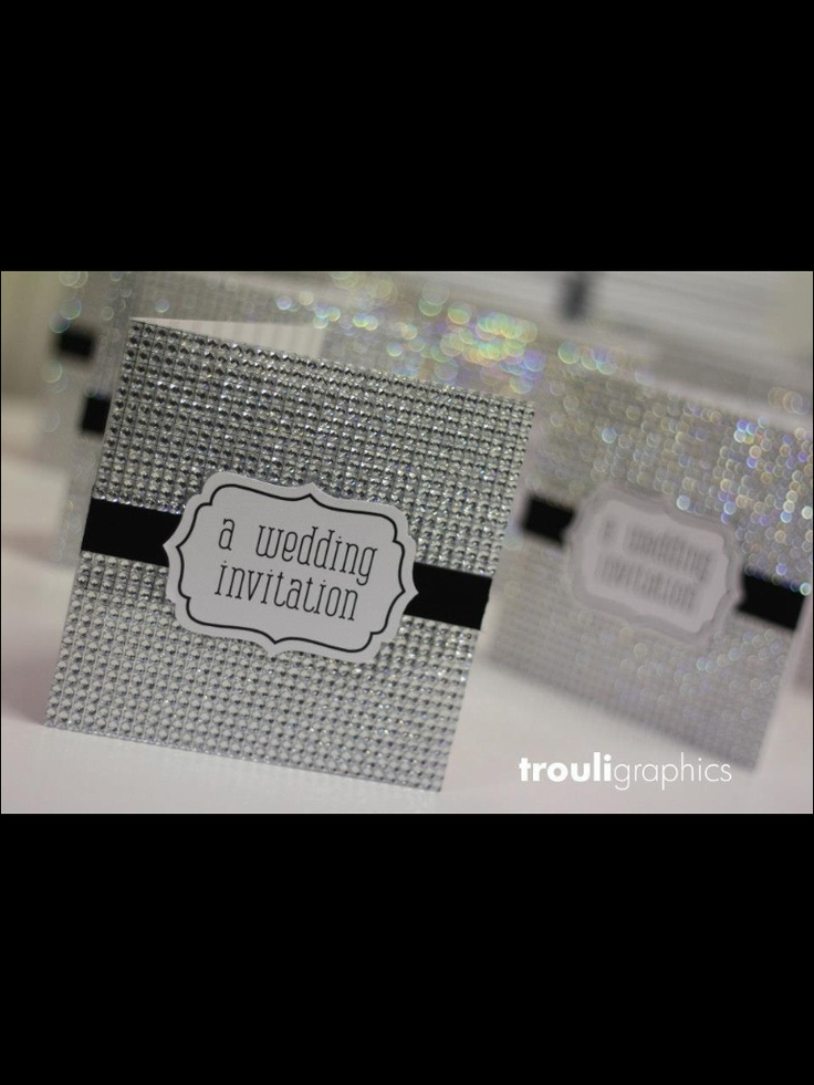 Very Bling Wedding Invitation By Trouli Graphics