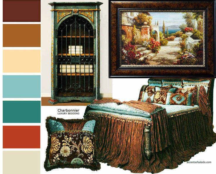 Tuscan Wall Colors | Bedding, wall art and even a favorite hand painted piece of furniture ...