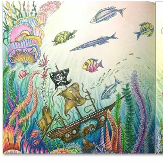 17 Mejores Imgenes Sobre Lost Ocean Coloring Book En Pinterest