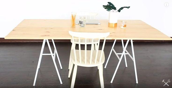 Hemmafix: Bygg ditt eget stora skrivbord eller matbord av plankor - Gör det själv DIY, Hemmafix, Inredning: Kök, Pyssel, Upcycling - Hemmafix