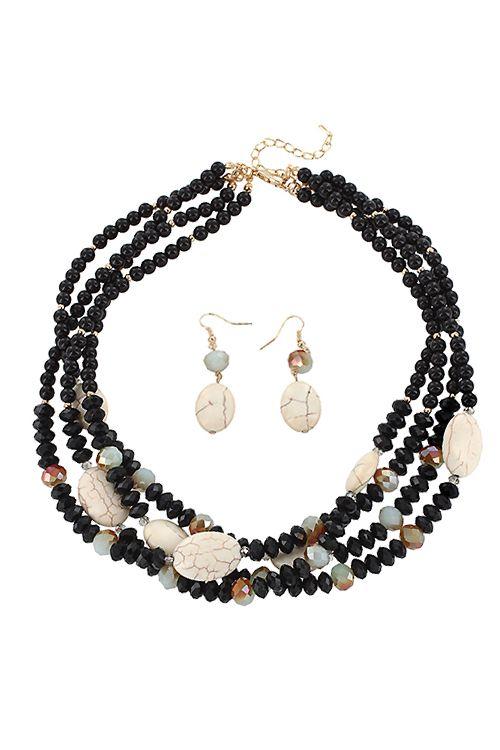 Howlite Carolina Necklace Set