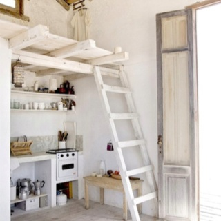 Loft idea for any room. Fun for kids' rooms.