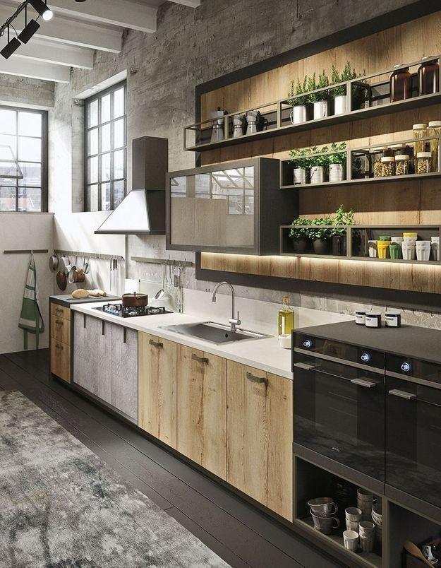 Notre Selection De Meubles De Cuisine Industriels Deco Factory En 2020 Meuble Cuisine Design De Cuisine Moderne Cuisine Industrielle