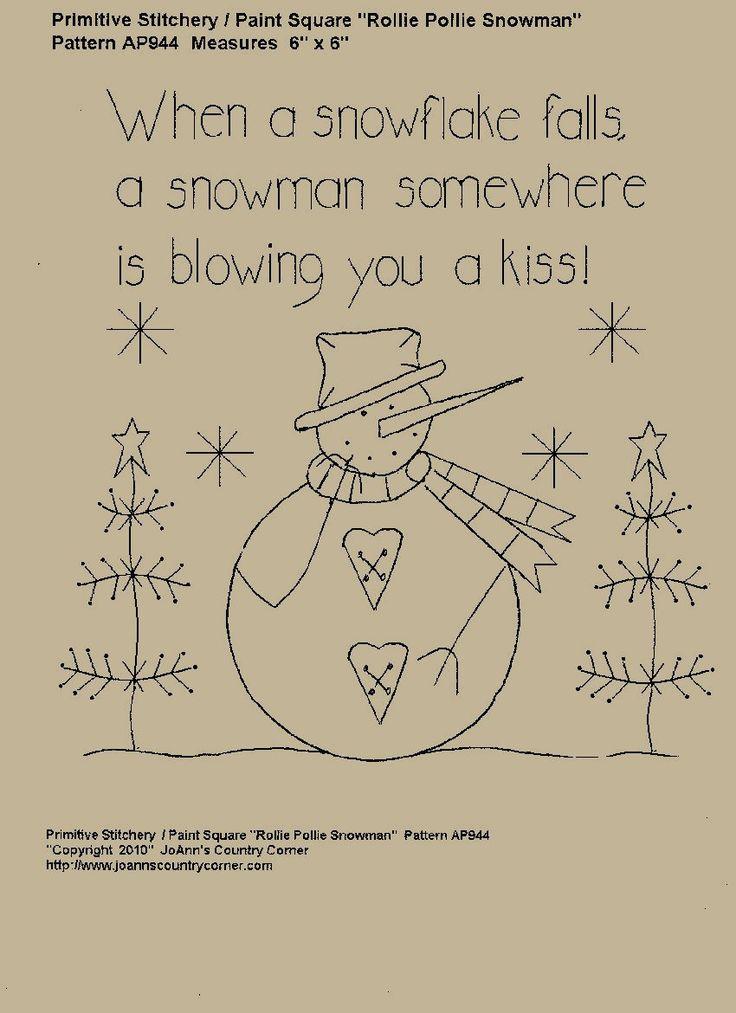 Quando um floco de neve cai um boneco de neve em algum lugar por JoAnnCountryCorner