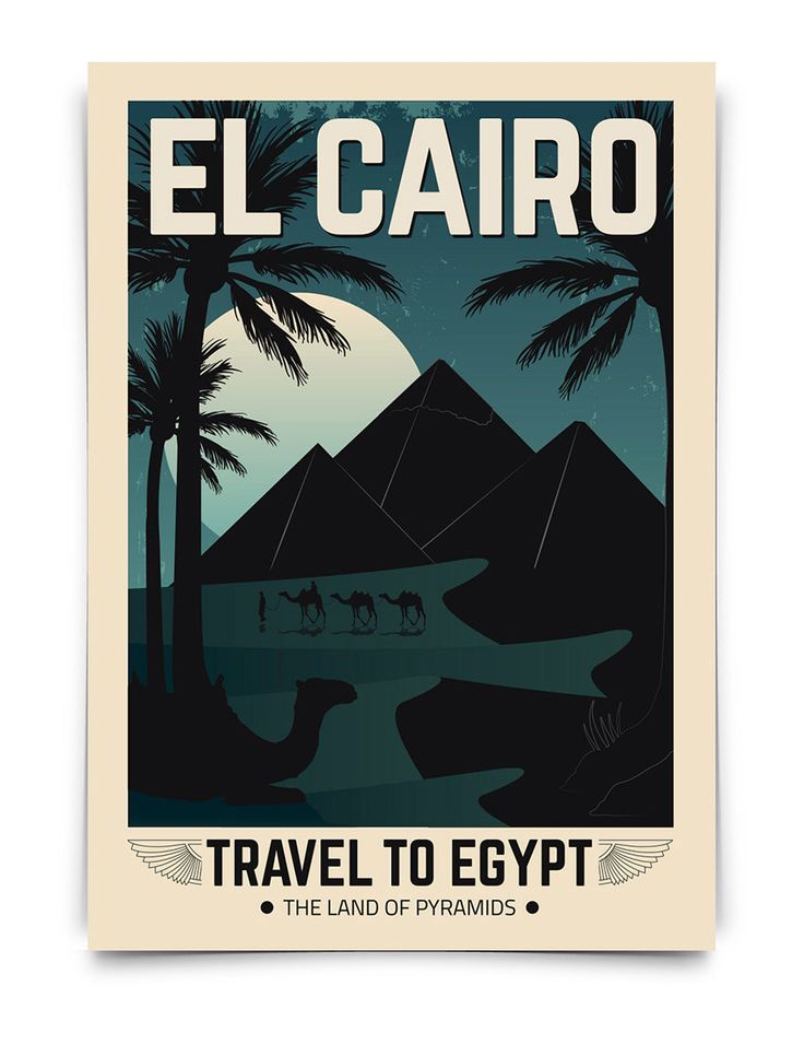 Cartel vintage egipto viaje egipto poster travel poster vintage decoracion lamina antiguo - Poster decoracion ...
