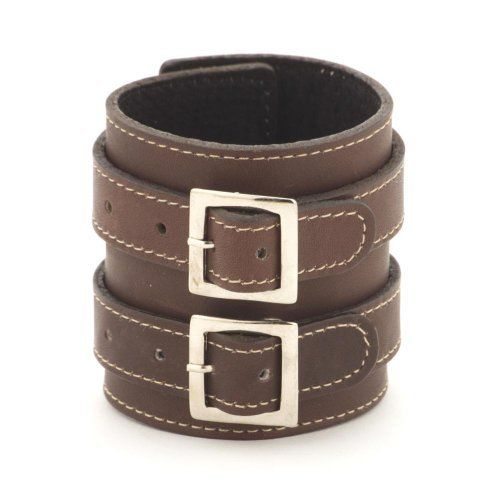 Brown buckle 70mm leather wristband bracelet by 81stgeneration 81stgeneration. $15.98. .