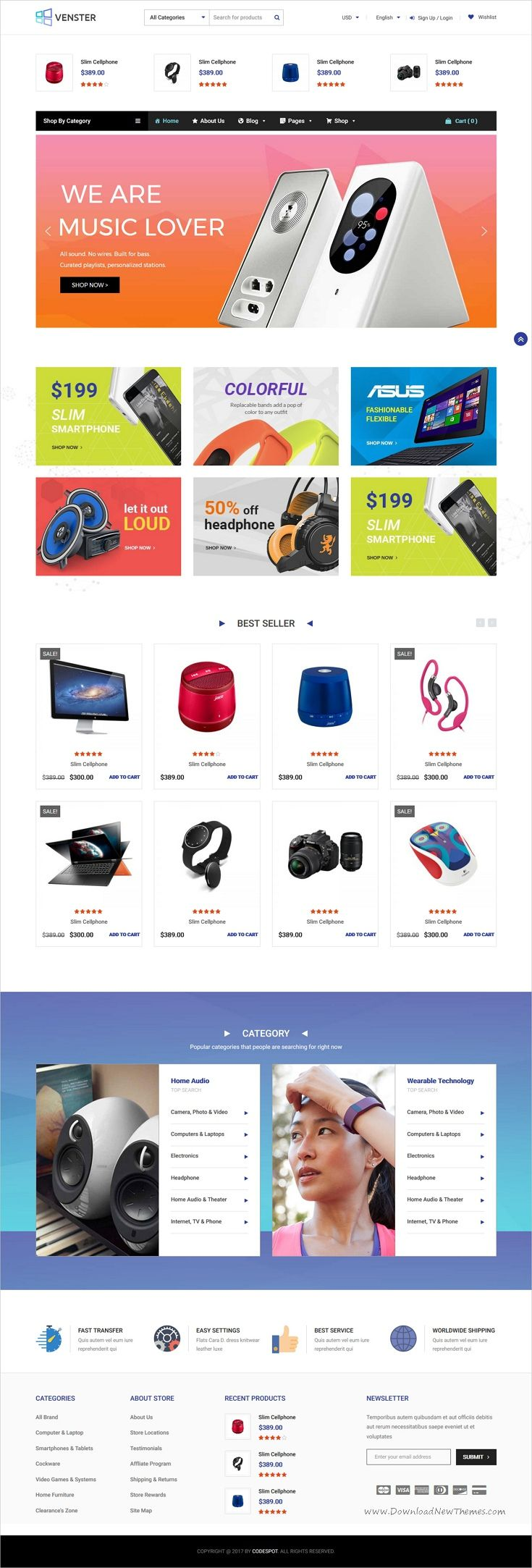 Venster is professional and modern design responsive #WooCommerce #WordPress theme for stunning #electronics shop eCommerce website download now➩ https://themeforest.net/item/venster-computer-woocommerce-wordpress-theme/19781588?ref=Datasata