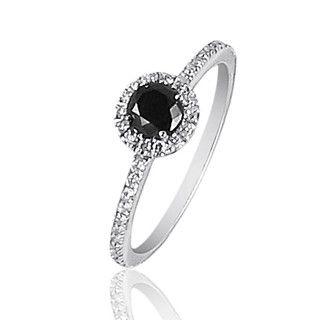 Bague diamant noir et blanc prix