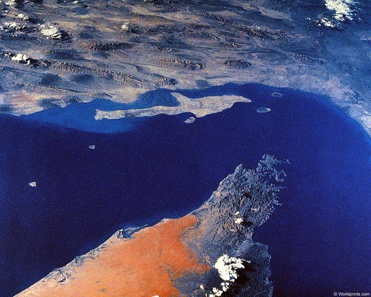 strait of hormuz | Satellite image of Strait of Hormuz