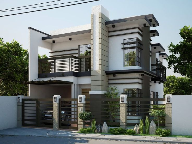 Elegant Home Design 3d front elevation: 1 kanal corner plot @ 2 house design